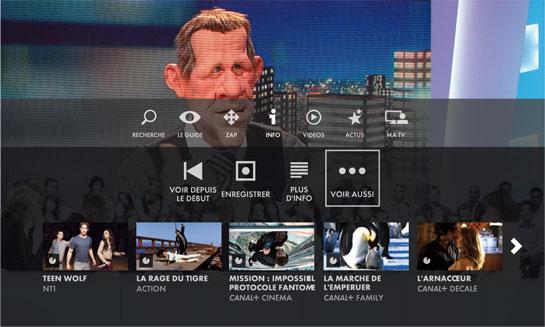 Nouvelle interface TV Cube Canalsat