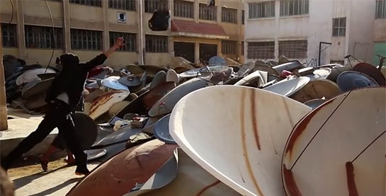 The terrorist group Daech embarks on a hunt for satellite dishes Daesh-destruction-antennes-satellites