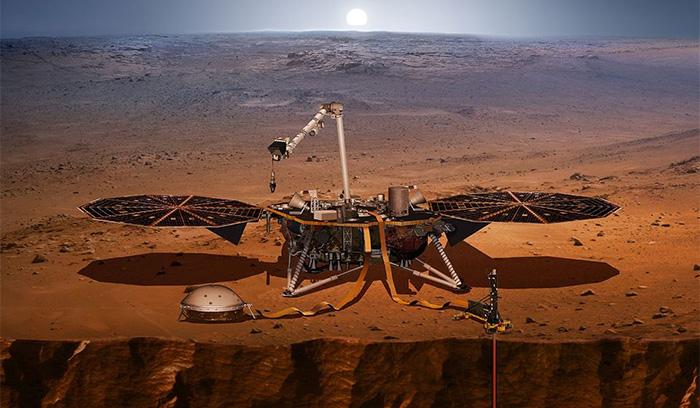 La sonde InSight envoie ses premières images de la planète Mars — Espace