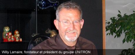 Willy Lamaire, fondateur et président du groupe UNITRON