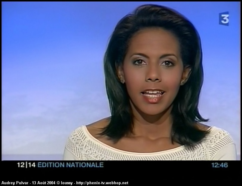 la pr sentatrice du journal de france 3 audrey pulvar. Black Bedroom Furniture Sets. Home Design Ideas