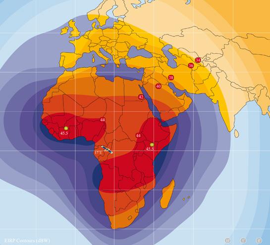 Zone de couverture (bande C) Pan-africaine